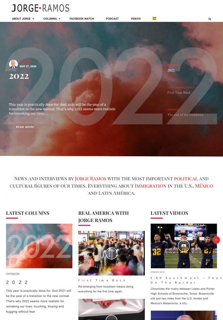 Jorgeramos.com Website & App Development