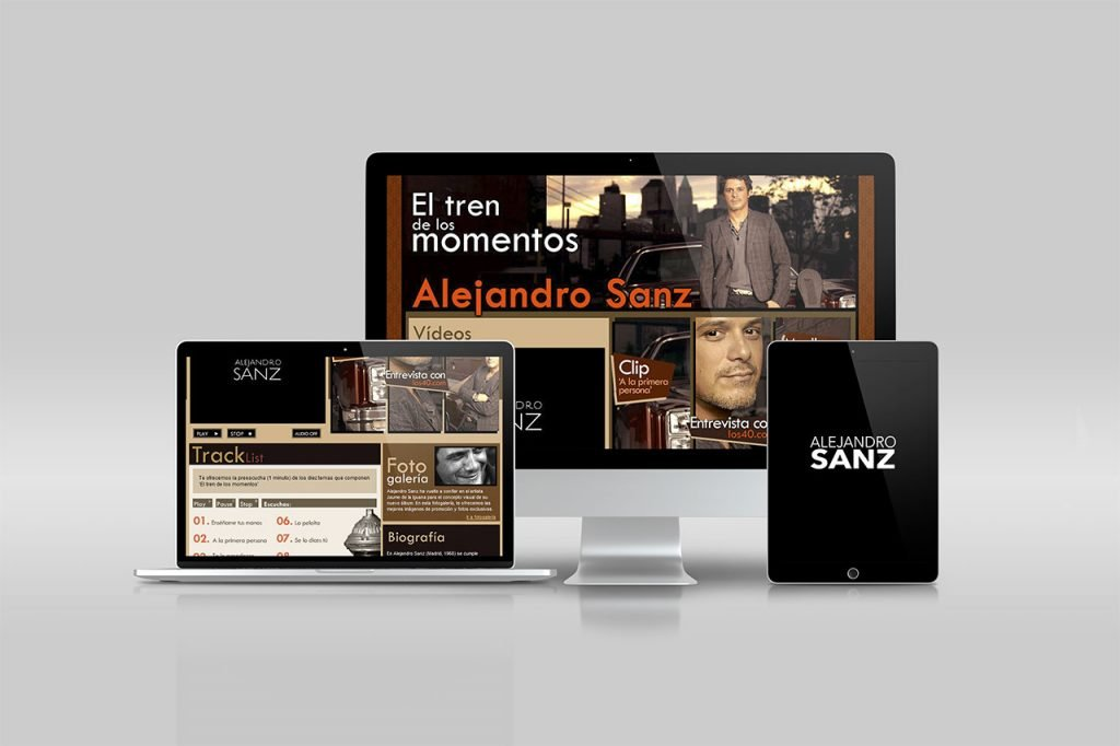 Alejandro Sanz - los40.com - Art Direction