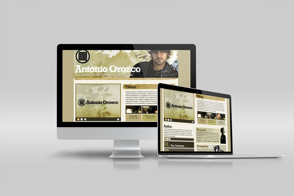 Antonio Orozco - los40.com - Art Direction